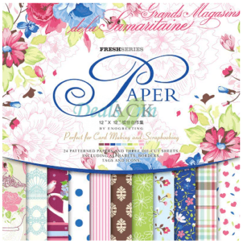 ENO Greeting 12*12 Elegant Retro Paper Pack