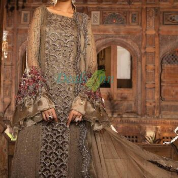 MariaB 3 Piece Embroidered Cotton Net Suit