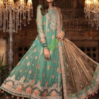 3 Piece Embroidered Organza Suit