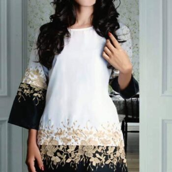 Stylish Golden Embroidered Top