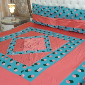 king-size-center-embroidered-patch-bed-sheets-blue-red