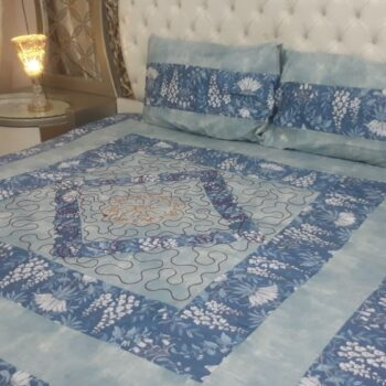 king-size-center-embroidered-patch-bed-sheets-bluegray