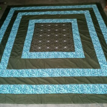 king-size-center-embroidered-patch-bed-sheet-brown-blue