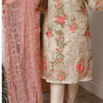 Unstitched Agha Noor D 01 SAME as ORIGINAL 3pcs