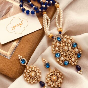 pearl-mala-with-kundan-stone-pendant-and-earrings