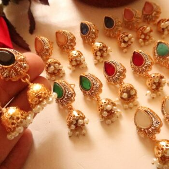 new-trendy-stone-stud-earrings-with-jhumka